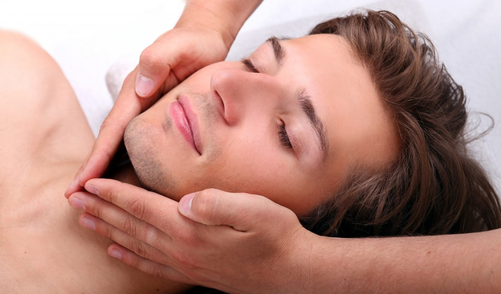 Facial reflexology for men